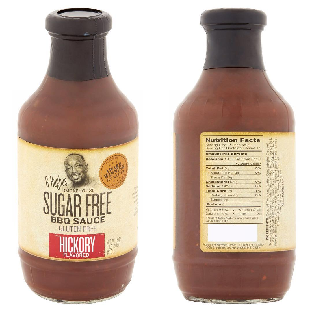 This @ghughessugarfree is the Sugar Free BBQ sauce I pick up at Walmart… it's been GREAT to keep around and I am so happy it's easy to get! 2 grams of carbs per serving! —