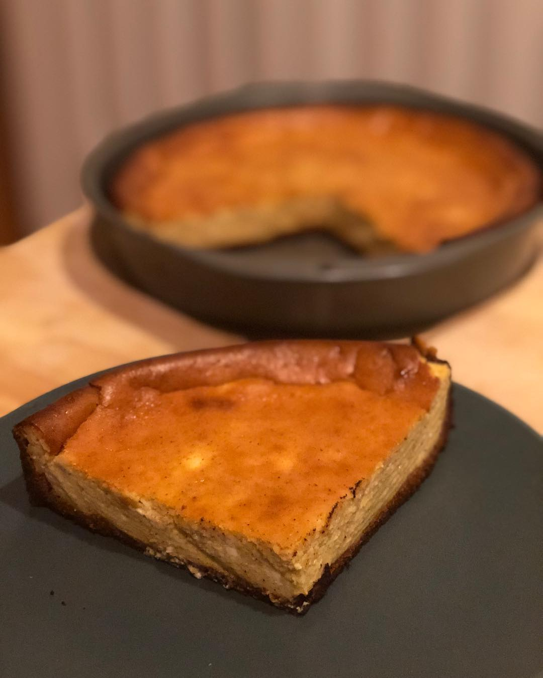 No frills, but I made a Keto pumpkin cheesecake the other day…. I used allulose which isn't as sweet as sugar so I should have added more of it… I also made the pumpkin purée from scratch (along with pumpkin fries and pumpkin seeds- nothing wasted!) so here's the recipe below! I just made a crust from almond flour; I googled for a basic recipe! —— 1  cup sugar (allulose 1 1/3 cup) 3 (8 ounce) packages cream cheese 1  teaspoon vanilla 1  cup pumpkin 3  eggs 1⁄2 teaspoon cinnamon 1⁄4 teaspoon nutmeg 1⁄4 teaspoon allspice —— In a large mixing bowl combine the cream cheese, 1 C sugar, and vanilla. Mix with an electric mixer until smooth. Add the pumpkin, eggs, cinnamon, nutmeg and allspice and continue beating until smooth and creamy. Pour the filling into the pan. Bake for 50-60 minutes- The top will turn a bit darker at this point. Remove from the oven and allow the cheesecake to cool. Refrigerate, slice and enjoy